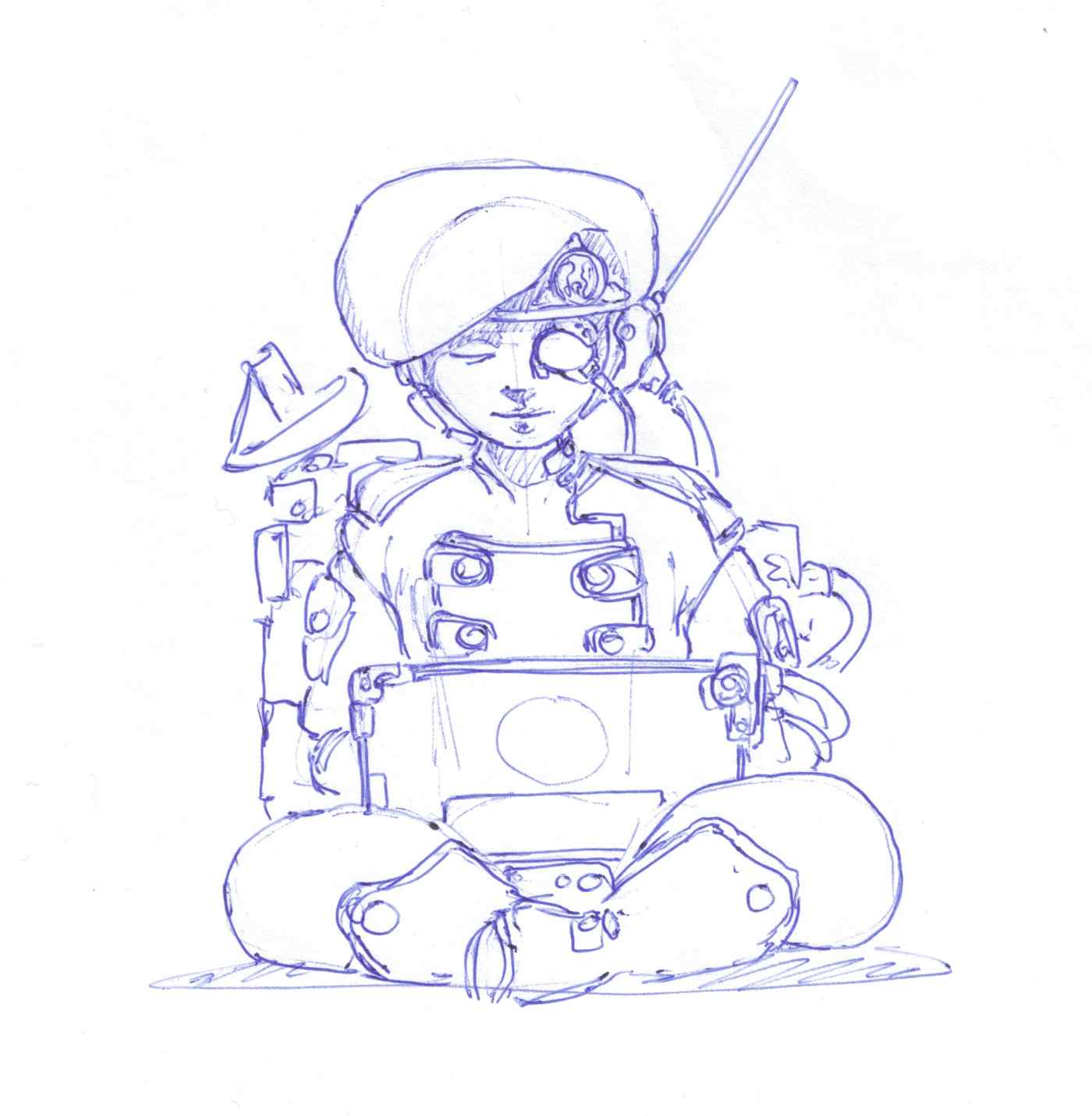 Character development sketch three, communications officer