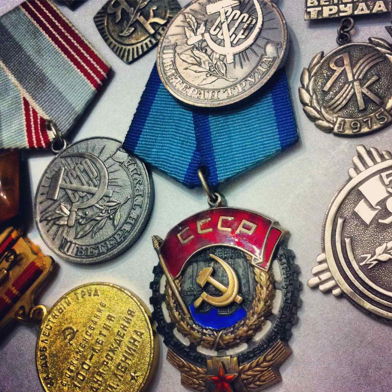 USSR medals awarded to Sasha and Lida for hard work