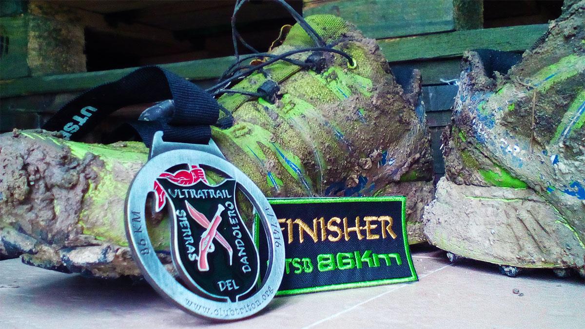 UTSB Ultra Trail Sierras del Bandolero finishing medal