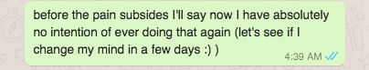 whatsapp post race message